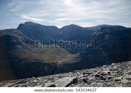 Summer mountain peaks #543534637