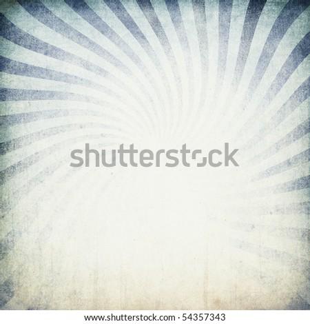Retro blue sunburst background.