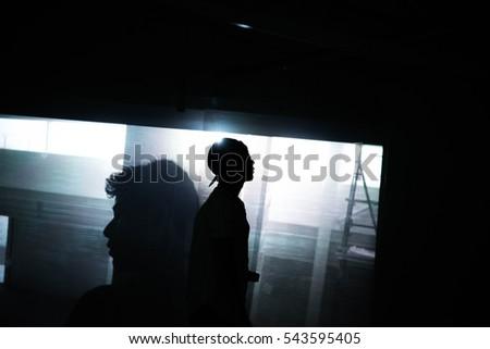 Man in shadow  #543595405