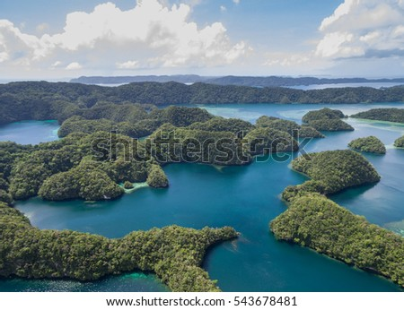 Koror Island in Palau. Archipelago, part of Micronesia Region #543678481
