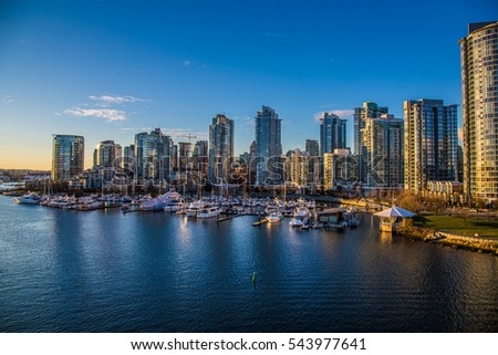 Beautiful view of Vancouver, British Columbia, Canada #543977641
