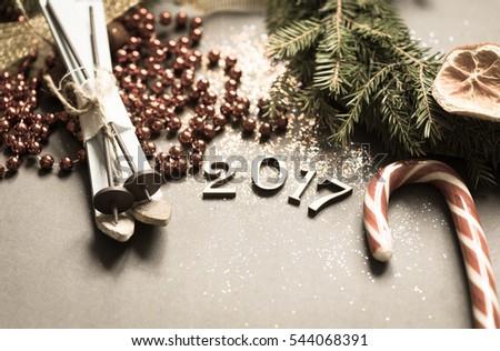 Holiday background/toned photo #544068391
