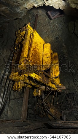 In abandoned gold mine #544107985