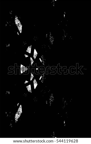 Grunge Black And White Urban Vector Texture Template. Dark Messy Dust Overlay Distress Background. Easy To Create Abstract Dotted, Scratched, Vintage Effect With Noise And Grain #544119628