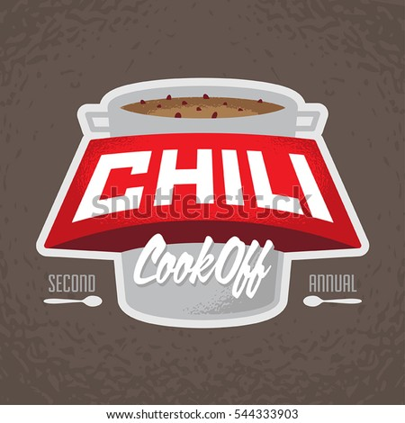 Chili cook off logo Royalty-Free Stock Photo #544333903