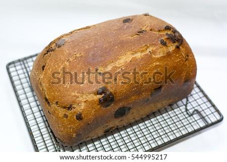 Chocolate bread, panettone type, isolated #544995217