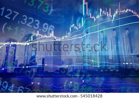 Financial accounting of profit summary graphs analysis. The business plan at the meeting and analyze financial numbers to view the performance of the company. Royalty-Free Stock Photo #545018428