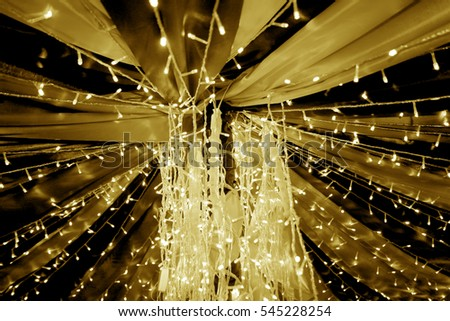 Blurred decorated lights for elegant party #545228254