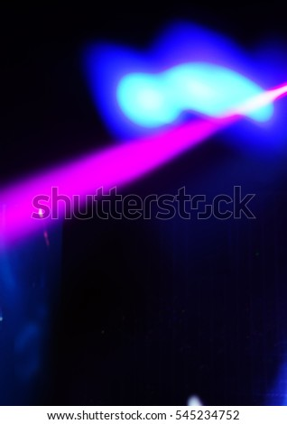 Defocused entertainment concert lighting on stage, blurred disco party. #545234752