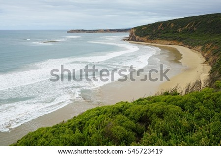 Bells Beach on the Great Ocean Road near Torquay, Australia #545723419