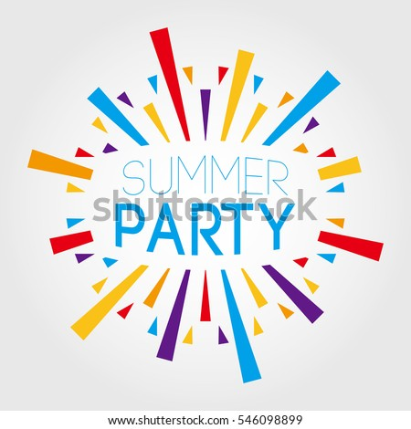 Summer Party. vector illustration. poster, banner, greeting template Royalty-Free Stock Photo #546098899