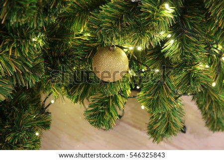 Christmas border with decorations #546325843