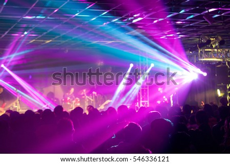 Rock stage, the lights are shining #546336121