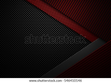 Abstract modern red black carbon fiber textured material design for background, wallpaper, graphic design
