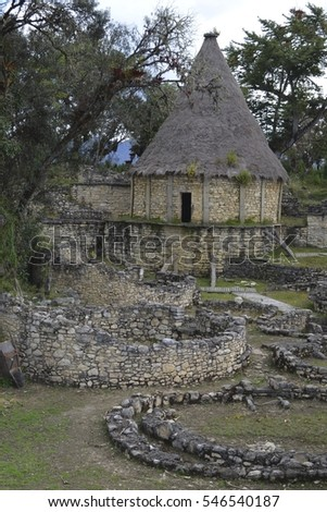 Kuelap archeological site and pre-Inca fortress, Chachapoyas, Amazonas, Peru #546540187