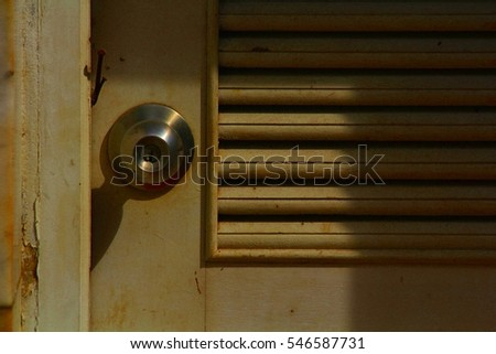 Shadows on the door #546587731