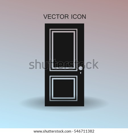 closed door vector illustration #546711382