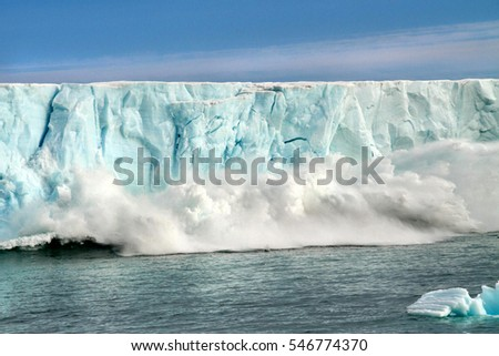 Global warming in the Arctic Royalty-Free Stock Photo #546774370