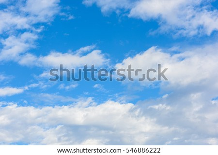 Beautiful cirrus clouds against the blue sky #546886222