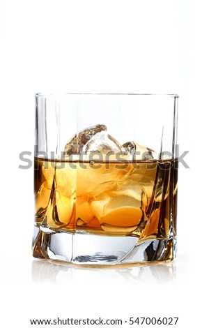 Glass of whisky - studio shot #547006027