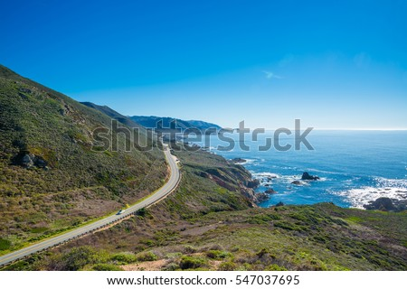 California's coastline along California State Route 1, one of the most famous and spectacular drives in the United States #547037695