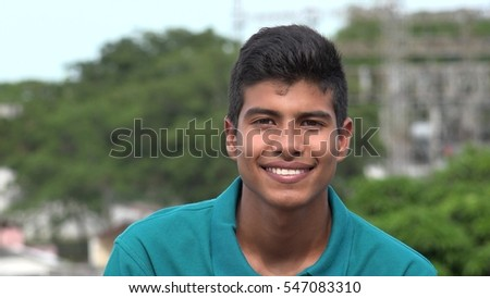 Confident Happy Smiling Teen Hispanic Boy #547083310