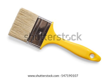 Paint brush isolated with clipping path Royalty-Free Stock Photo #547190107