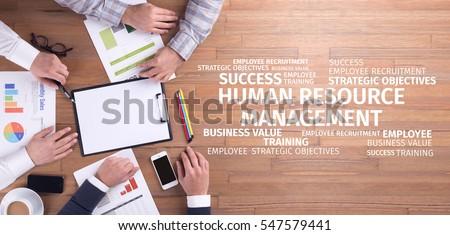 Business Concept: Human Resources Management Word Cloud #547579441