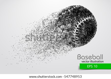 Silhouette of baseball ball. Vector illustration