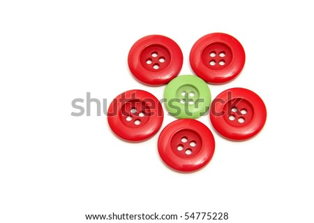 a flower made with buttons isolated on a white background #54775228