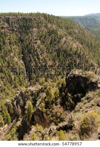 Oak Creek Canyon and rocky cliffs #54778957