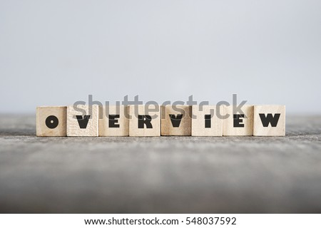 OVERVIEW word made with building blocks Royalty-Free Stock Photo #548037592