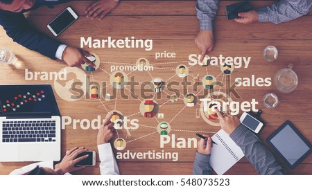Marketing Commercial Advertising Plan Concept Royalty-Free Stock Photo #548073523