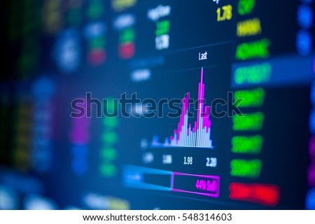 Stock Exchange Board  Royalty-Free Stock Photo #548314603