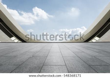 Empty floor and modern architectural passageway #548368171