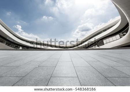 Empty floor and modern architectural passageway #548368186