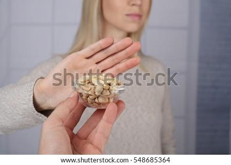 Peanut food allergy concept #548685364