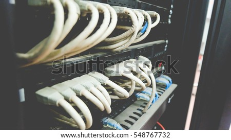 Network switch, Ethernet cables and Patch Cord #548767732