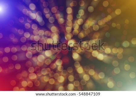 abstract blurred of blue and silver glittering shine bulbs lights background:blur of Christmas wallpaper decorations concept.xmas holiday festival backdrop:sparkle circle lit celebrations display. #548847109