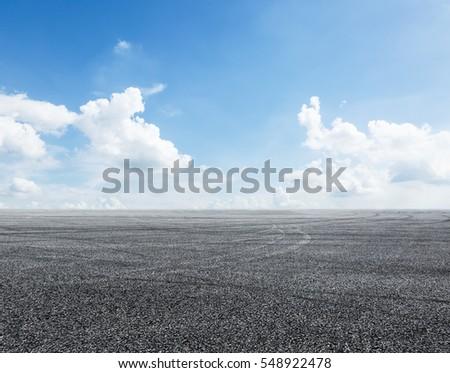 Asphalt road and sky #548922478