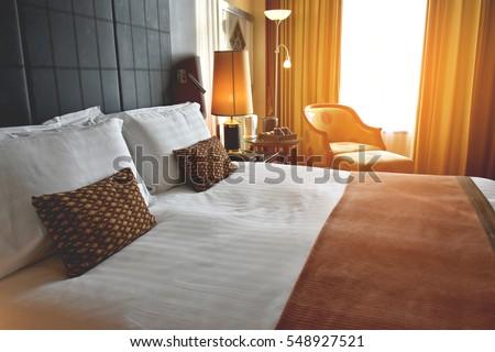 Comfort bedroom in luxury style Royalty-Free Stock Photo #548927521