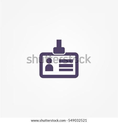 Identification card icon #549032521