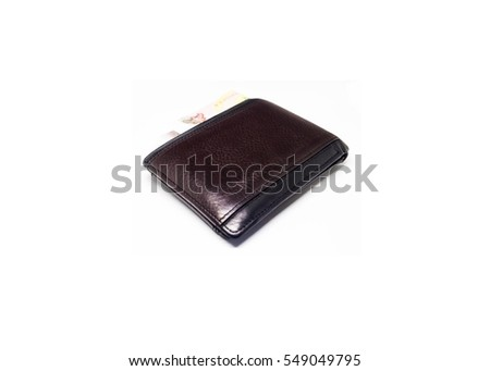 Wallet Brown isolated on white background #549049795
