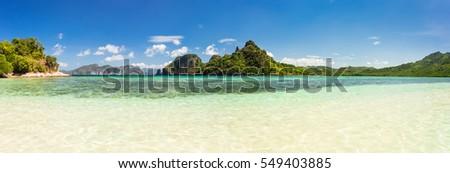 Breathtaking panorama from Snake Island, Palawan, Philippines #549403885