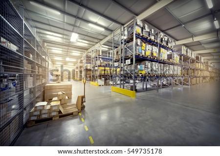warehouse interior Royalty-Free Stock Photo #549735178