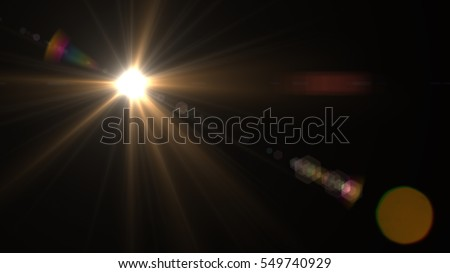 abstract of sun with flare. natural  background with lights and  sunshine wallpaper Royalty-Free Stock Photo #549740929