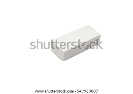 eraser on white backgrounds, isolated #549963007