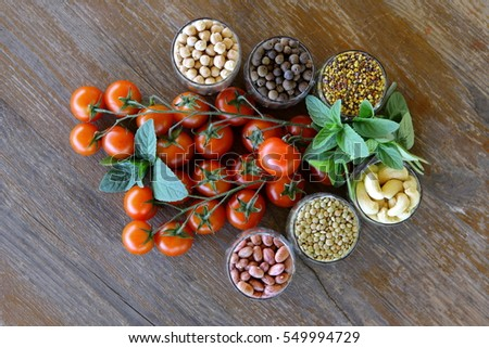 seeds and vegetables the same nature #549994729