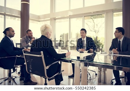 Business Discussion Meeting Presentation Briefing #550242385