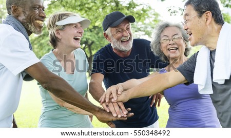Group Of Senior Retirement Exercising Togetherness Concept Royalty-Free Stock Photo #550348492